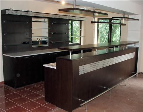 Poza bar, pal, blat, mdf decor, wenge, inox - hlb050710