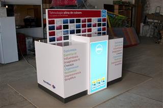 Poza Stand info point, pal, plexiglass, autocolant, iluminare led - mst100511